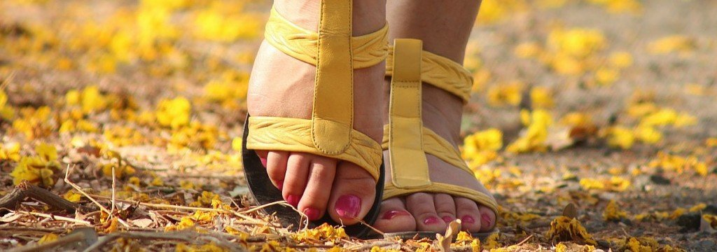 woman walking after acupuncture for plantar faciitis